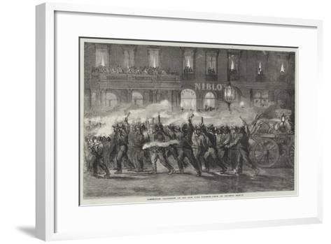 Torchlight Procession of the New York Firemen--Framed Art Print