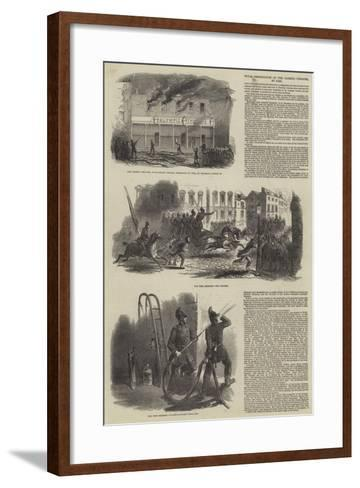 Total Destruction of the Olympic Theatre, by Fire--Framed Art Print