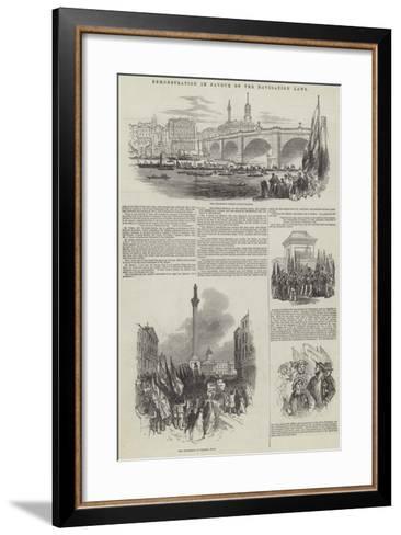 Demonstration in Favour of the Navigation Laws--Framed Art Print