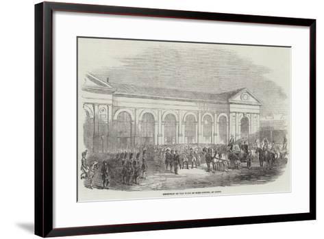 Reception of the Duke of Saxe-Coburg, at Paris--Framed Art Print