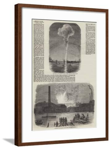 Destruction of the Vauxhall Railway Station by Fire--Framed Art Print