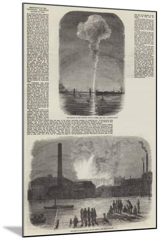 Destruction of the Vauxhall Railway Station by Fire--Mounted Giclee Print