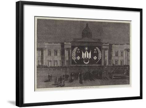 The Peace Illuminations, the National Gallery--Framed Art Print