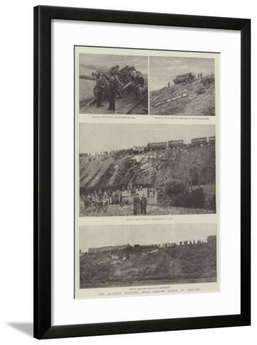 The Railway Disaster Near Armagh, North of Ireland--Framed Art Print