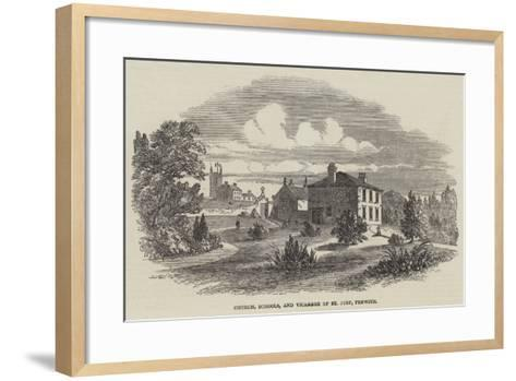 Church, Schools, and Vicarage of St Just, Penwith--Framed Art Print