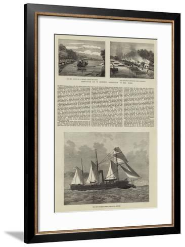 Commodore Sir W Hewitt's Expedition Up the Niger--Framed Art Print