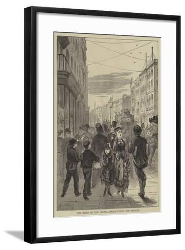 The News of the Leger, Despatching the Pigeons--Framed Art Print