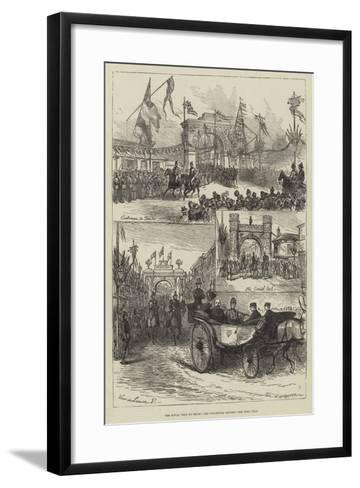 The Royal Visit to Truro, the Triumphal Arches--Framed Art Print