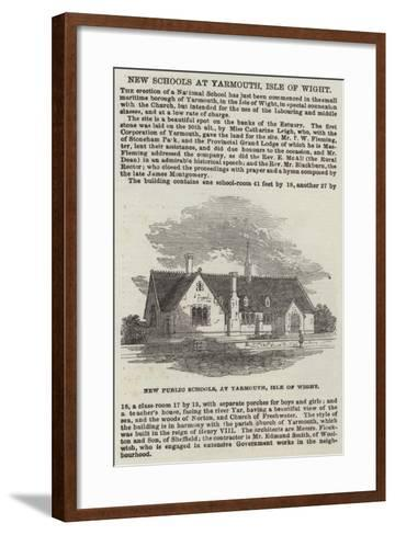 New Public Schools, at Yarmouth, Isle of Wight--Framed Art Print