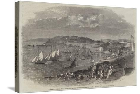 Plymouth Regatta, Start of Yachts in the First Race--Stretched Canvas Print