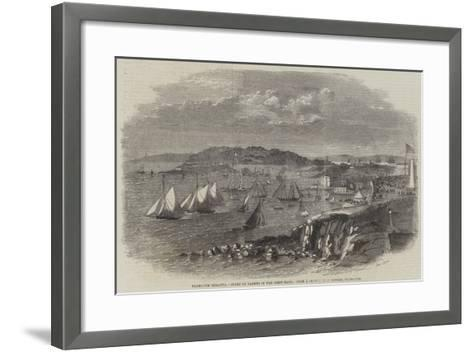 Plymouth Regatta, Start of Yachts in the First Race--Framed Art Print