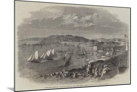 Plymouth Regatta, Start of Yachts in the First Race--Mounted Giclee Print