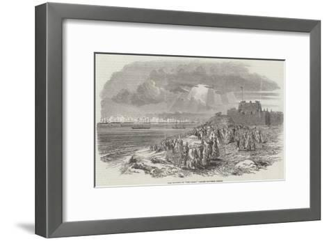 Her Majesty, in The Fairy, Passing Southsea Castle--Framed Art Print