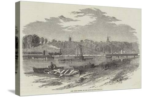 Rye Swing-Bridge, on the South-Eastern Railway--Stretched Canvas Print