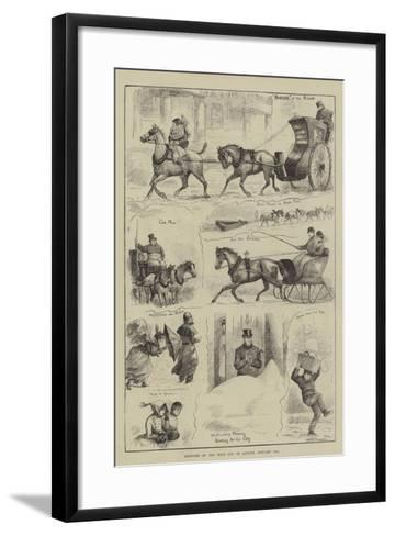 Sketches at the West End of London, 19 January--Framed Art Print