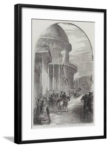 Opening of the Dublin Great Industrial Exhibition--Framed Art Print