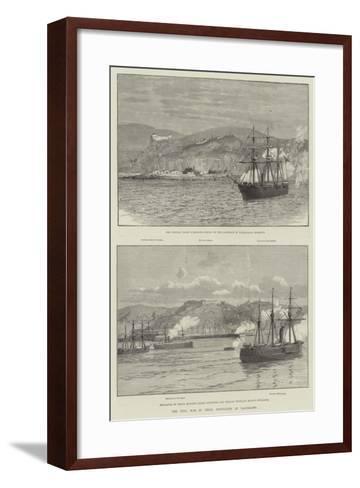 The Civil War in Chile, Hostilities at Valparaiso--Framed Art Print