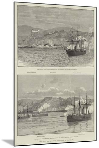 The Civil War in Chile, Hostilities at Valparaiso--Mounted Giclee Print