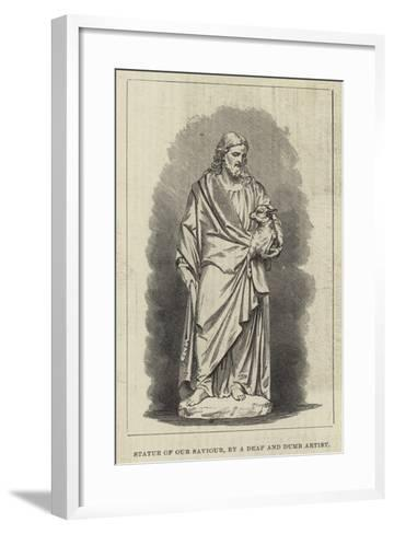 Statue of Our Saviour, by a Deaf and Dumb Artist--Framed Art Print