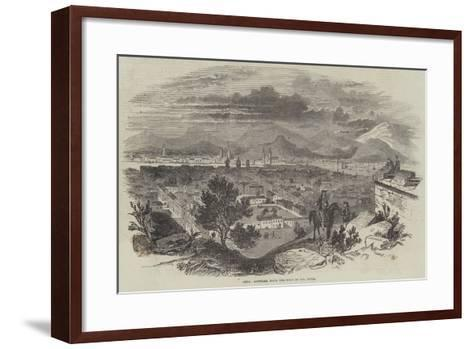 Chili, Santiago, from the Fort of Santa Lucia--Framed Art Print