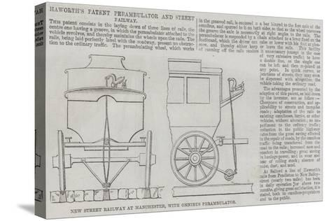 Haworth's Patent Perambulator and Street Railway--Stretched Canvas Print