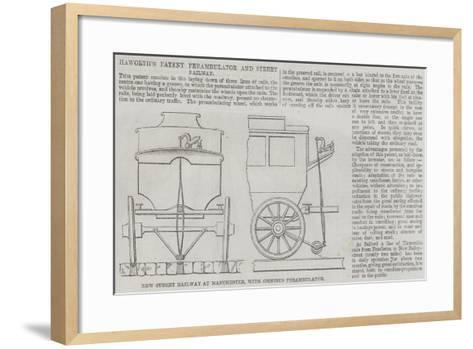 Haworth's Patent Perambulator and Street Railway--Framed Art Print