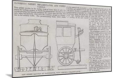 Haworth's Patent Perambulator and Street Railway--Mounted Giclee Print