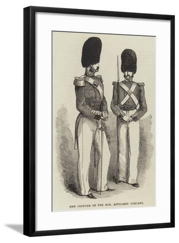 New Costume of the Honourable Artillery Company--Framed Art Print