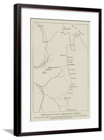 Sketch-Map of Italian Operations in Abyssinia--Framed Art Print