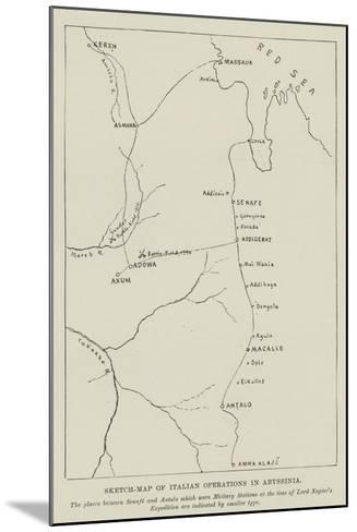 Sketch-Map of Italian Operations in Abyssinia--Mounted Giclee Print
