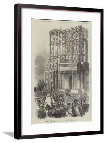Arrival of the Wellington Statue at the Arch--Framed Art Print