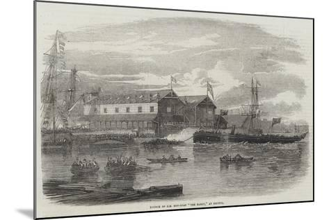 Launch of Hm Gun-Boat The Hardy, at Bristol--Mounted Giclee Print
