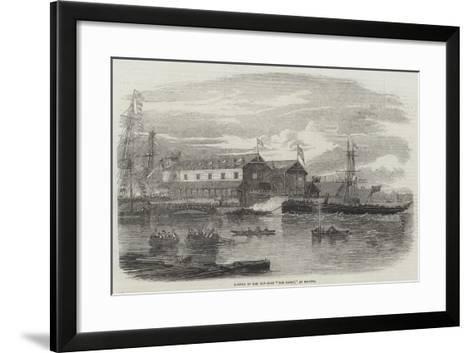 Launch of Hm Gun-Boat The Hardy, at Bristol--Framed Art Print