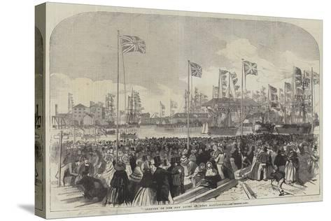 Opening of the New Docks at West Hartlepool--Stretched Canvas Print