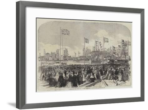 Opening of the New Docks at West Hartlepool--Framed Art Print