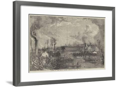 Launch of The Royal Albert Sketched from the River--Framed Art Print