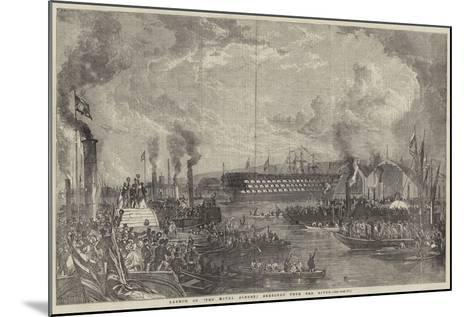 Launch of The Royal Albert Sketched from the River--Mounted Giclee Print