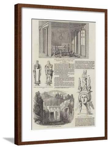 Interesting Discovery of Greek Tombs at Canosa--Framed Art Print