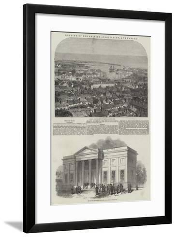 Meeting of the British Association, at Swansea--Framed Art Print