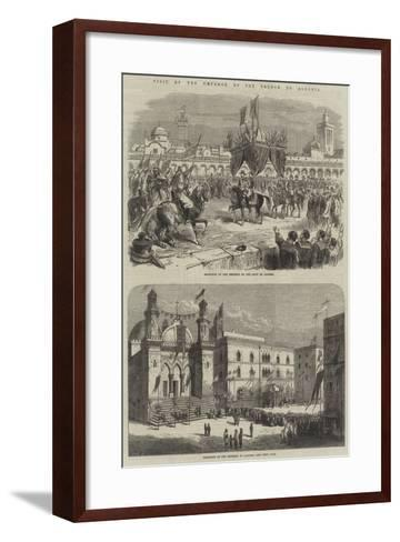 Visit to the Emperor of the French to Algeria--Framed Art Print