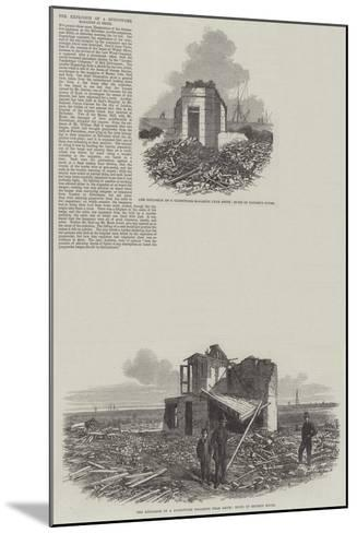 The Explosion of Gunpowder Magazine at Erith--Mounted Giclee Print