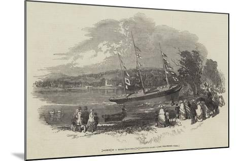 Launch of a Model Gun-Brig, in Eastwell-Park--Mounted Giclee Print