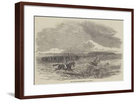 The Waterloo Coursing Meeting, at Liverpool--Framed Art Print