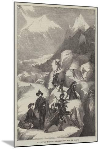 A Party of Tourists Crossing the Mer De Glace--Mounted Giclee Print