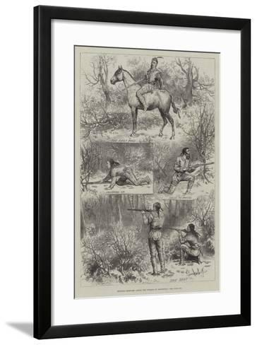 Hunting Sketches Among the Indians of Minnesota--Framed Art Print