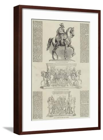 Statue of the Frederick the Great at Berlin--Framed Art Print