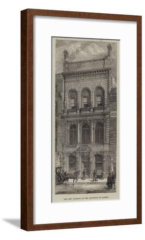 The New Building of the Art-Union of London--Framed Art Print