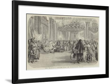 Her Majesty's Costume Ball at Buckingham Palace--Framed Art Print