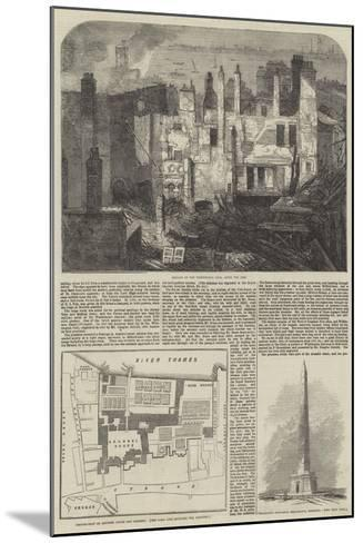 The Fire in the Strand, Site of Arundel House--Mounted Giclee Print