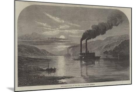 Moonlight Scene on the Ohio River, North America--Mounted Giclee Print